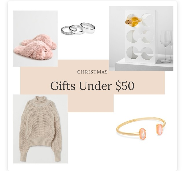 Gifts Under $50 – Blog post 3